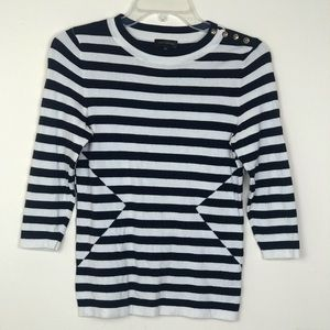 The Limited | Striped blue & white sweater